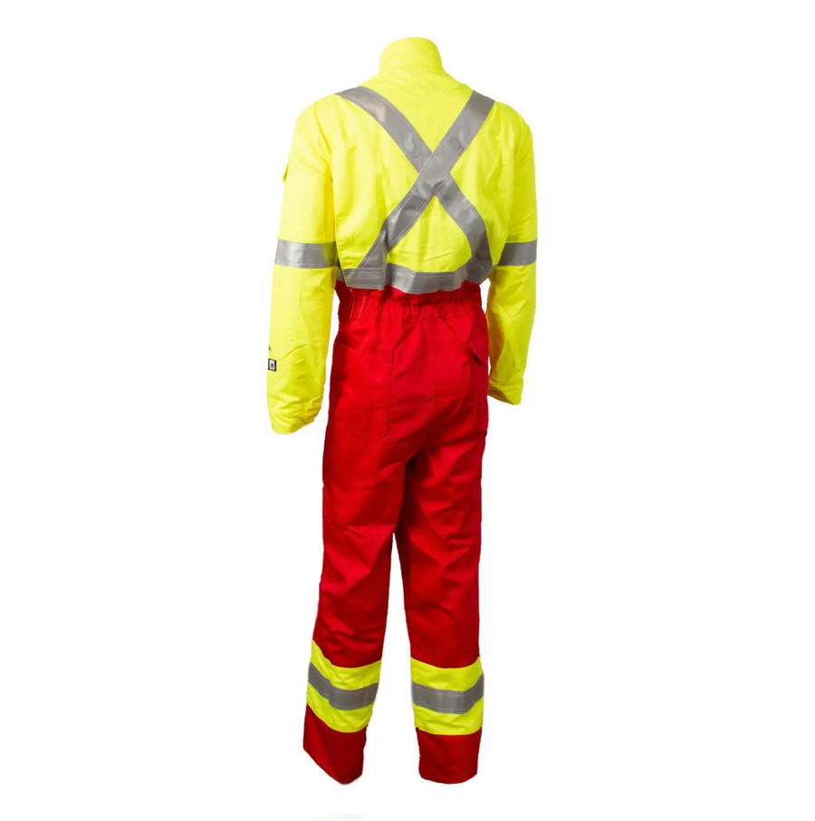 Wenaas Offshore Daletec FR Coverall | Red/Yellow | Sizes S - 4XL Flame Resistant Work Wear - Cleanflow