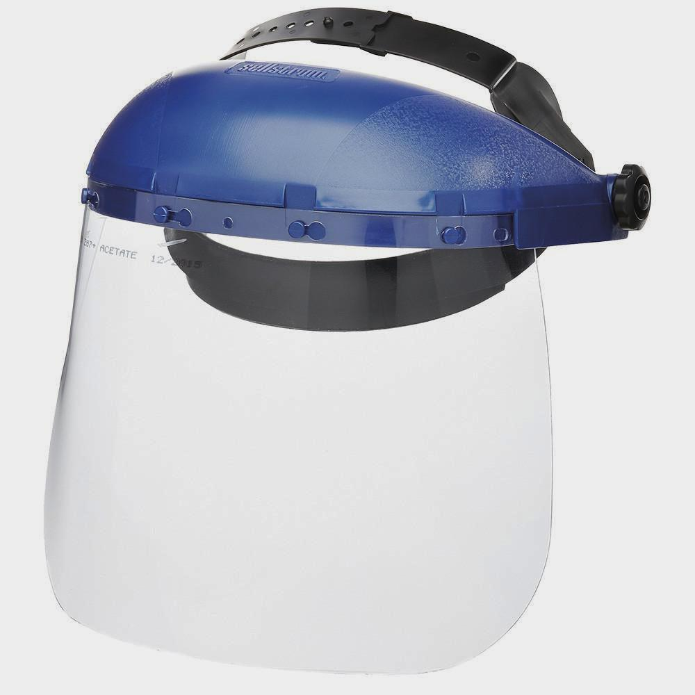 Sellstrom 390 Series Standard Face Shield with Ratcheting Headgear Personal Protective Equipment - Cleanflow