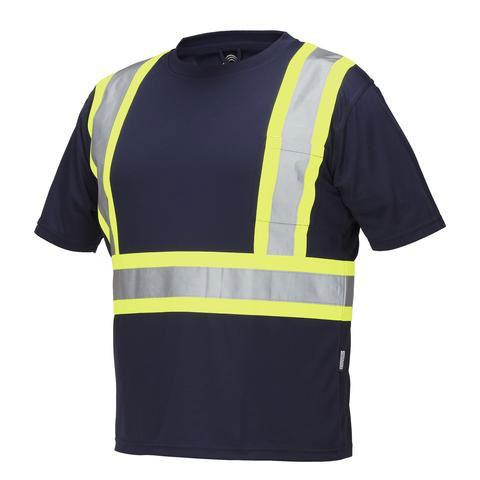 Rasco Birdseye Short Sleeve Hi Vis T-Shirt | Black | S-4XL Hi Vis Work Wear - Cleanflow