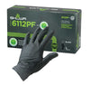 Showa 6112PF Black Nitrile 4-Mil Biodegradable Powder-Free Examination Gloves - Box of 100 Work Gloves and Hats - Cleanflow