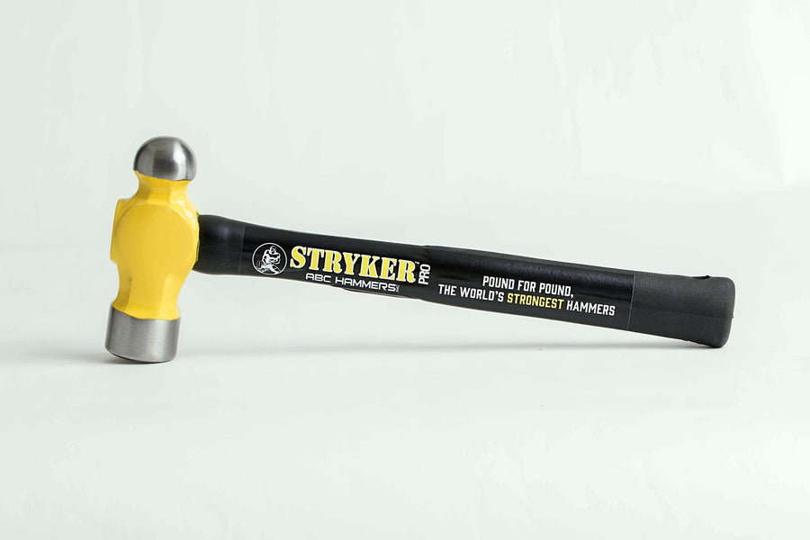 Stryker Pro Unbreakable Shock Proof Rubber Handle Ball Pein Hammers Hand Tools - Cleanflow