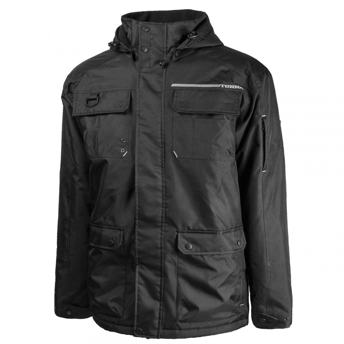 Terra Bolt Black Poly/Oxford Winter Jacket | Black | Limited Size Selection Work Wear - Cleanflow