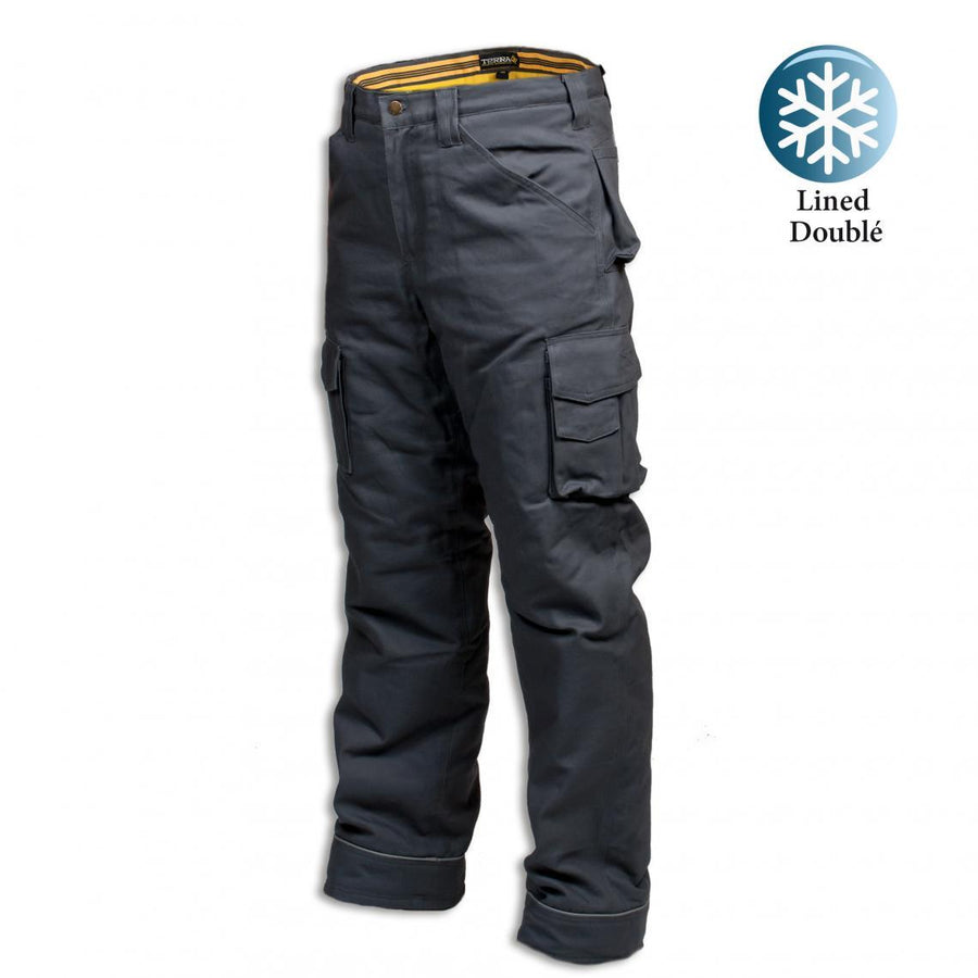 "Terra Climb Insulated Canvas Winter Work Pants | Gray | 32"" - 42"" Waist"