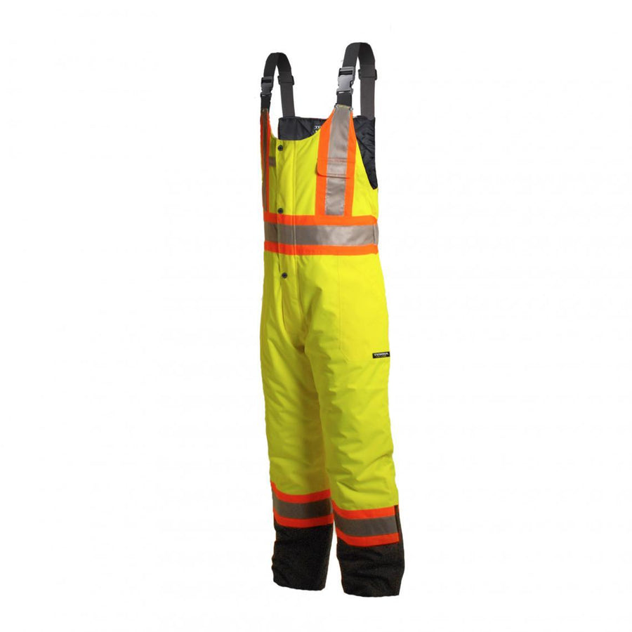 Terra Insulated 300D Poly Oxford Safety Overalls | Yellow | Limited Size Selection Hi Vis Work Wear - Cleanflow
