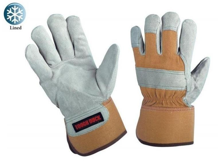 Tough Duck Pile Lined Split Leather Winter Work Gloves | Limited Size Selection Work Gloves and Hats - Cleanflow