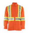 STC High-visibility Fire Retardant Shirt | Orange | Sizes Small to 5XL Flame Resistant Work Wear - Cleanflow