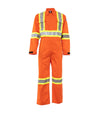 STC Electric Arc Resistance Hight-visibility Coverall | Orange | Sizes Small - 5XLarge Regular Flame Resistant Work Wear - Cleanflow