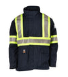 STC Electric Arc Resistance Hight-visibility Parka | Navy | Sizes S - 5 XL Flame Resistant Work Wear - Cleanflow