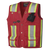 Pioneer Surveyor's/Supervisor's Safety Vest - 600D Oxford Poly | Red | Sizes S - 5XL