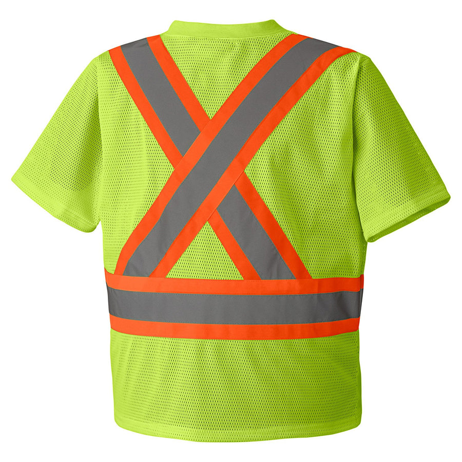 Pioneer 5997 Traffic Hi Vis V Neck T-Shirt | Yellow | S-5XL Hi Vis Work Wear - Cleanflow