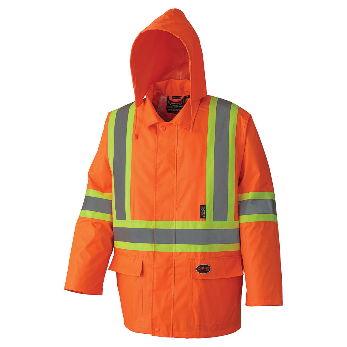 Pioneer 5608 210D Oxford Poly/PVC Waterproof Hi Vis Rain Suit | Orange | S-4XL Hi Vis Work Wear - Cleanflow