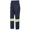 "Pioneer Poly/Cotton Cargo Work Pants | Hi Viz | Navy | Sizes Waist 30"" - 40"" Hi Vis Work Wear - Cleanflow"