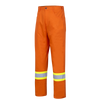 "Pioneer Hi Viz Cotton Safety Pants - Ultra Cool/Cotton Twill | Orange | Sizes Waist 30"" - 40"" Hi Vis Work Wear - Cleanflow"