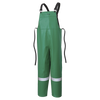 Ranpro CA-43® FR Chemical/Acid Resistant Safety Bib Pants - PVC/Poly | Green | Sizes Small - 4XL Flame Resistant Work Wear - Cleanflow