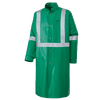 Ranpro CA-43® FR Chemical/Acid Resistant Long Safety Coat - PVC/Poly | Green | Sizes Small - 3XL Flame Resistant Work Wear - Cleanflow