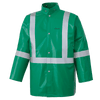 Ranpro CA-43® FR Chemical/Acid Resistant Safety Jacket - PVC/Poly | Green | Sizes Small - 4XL Flame Resistant Work Wear - Cleanflow