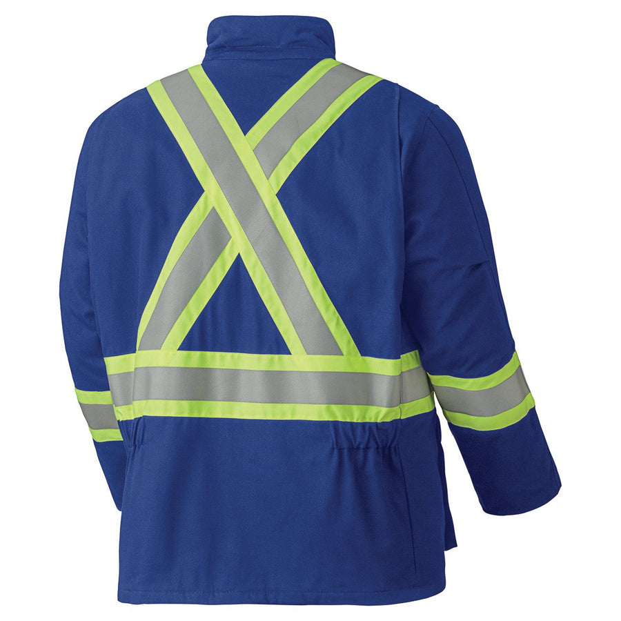 Pioneer 5523 Flame Resistant Hi-Vis Cotton Winter Parka | Royal Blue