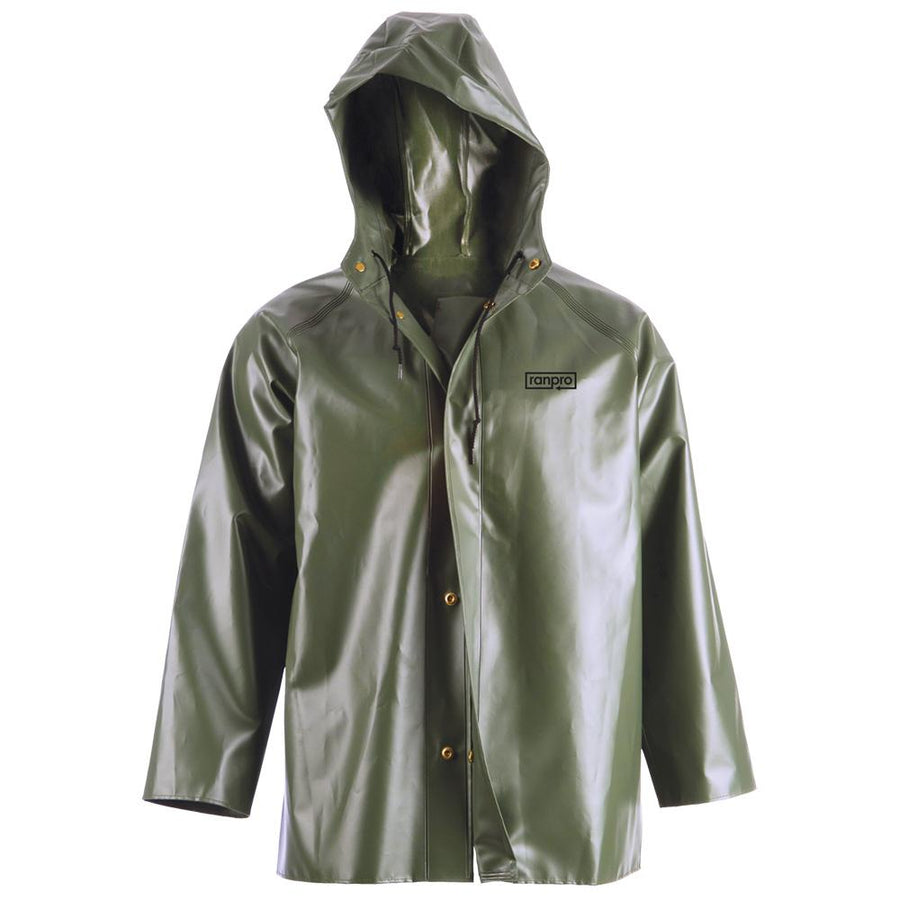 Ranpro Canadian Heavy Duty Cold Flex Hooded Rain Jacket | Olive Green | S-4XL