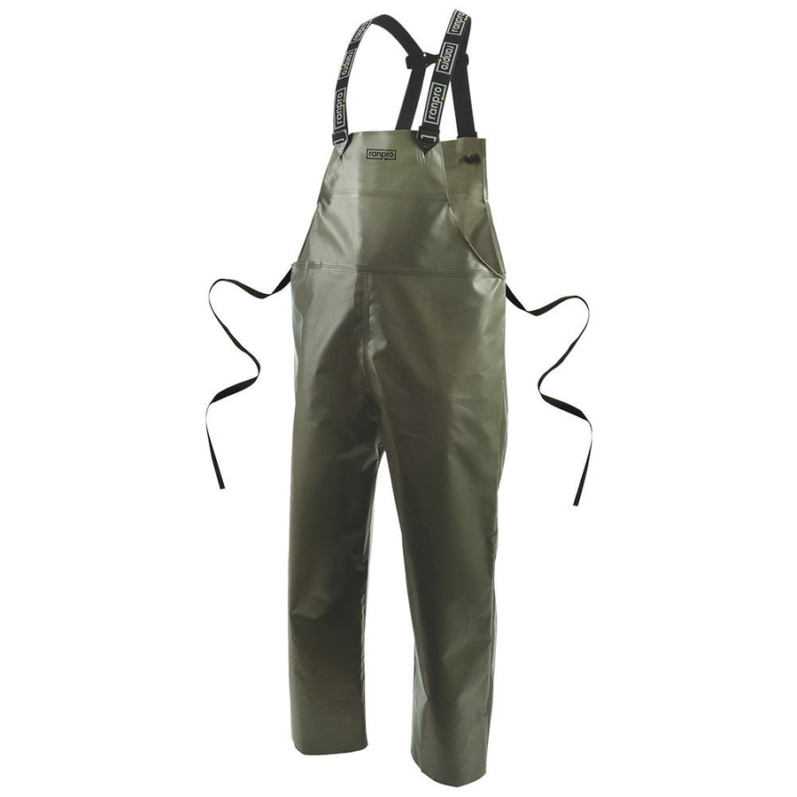 Ranpro Canadian Heavy Duty Cold Flex Rain Bib Pants | Olive Green | S-4XL