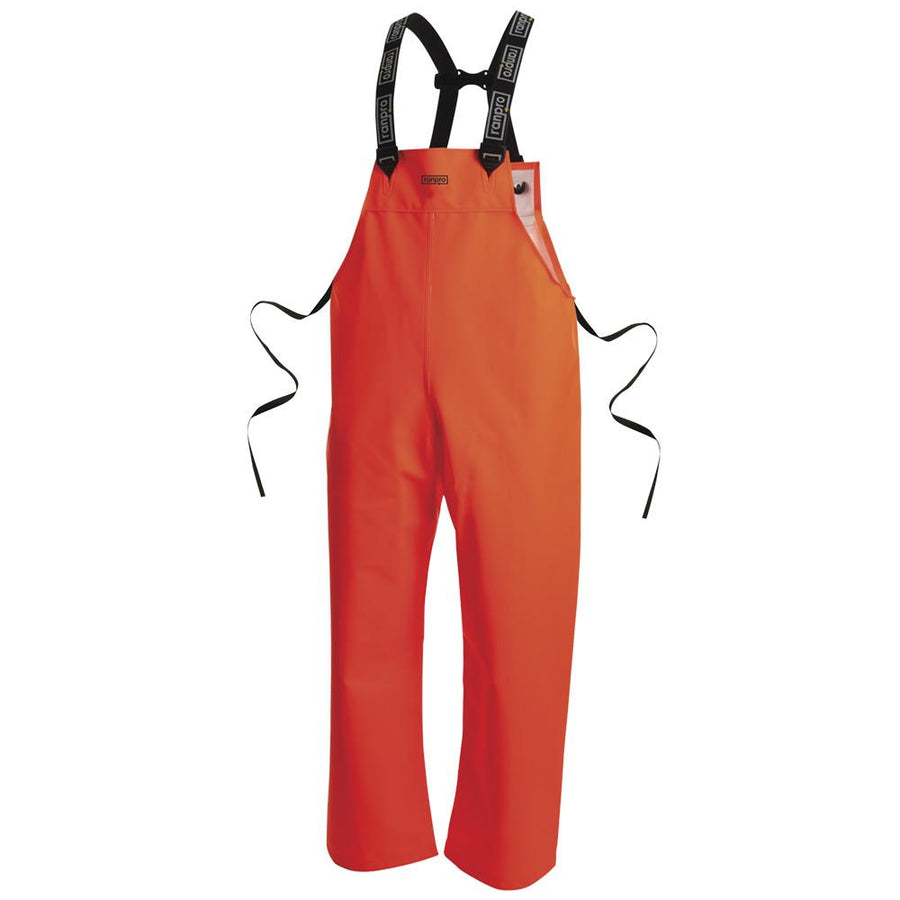 Ranpro Snapper Heavy Duty Rain Bib Pants | Fluorescent Orange | S-4XL