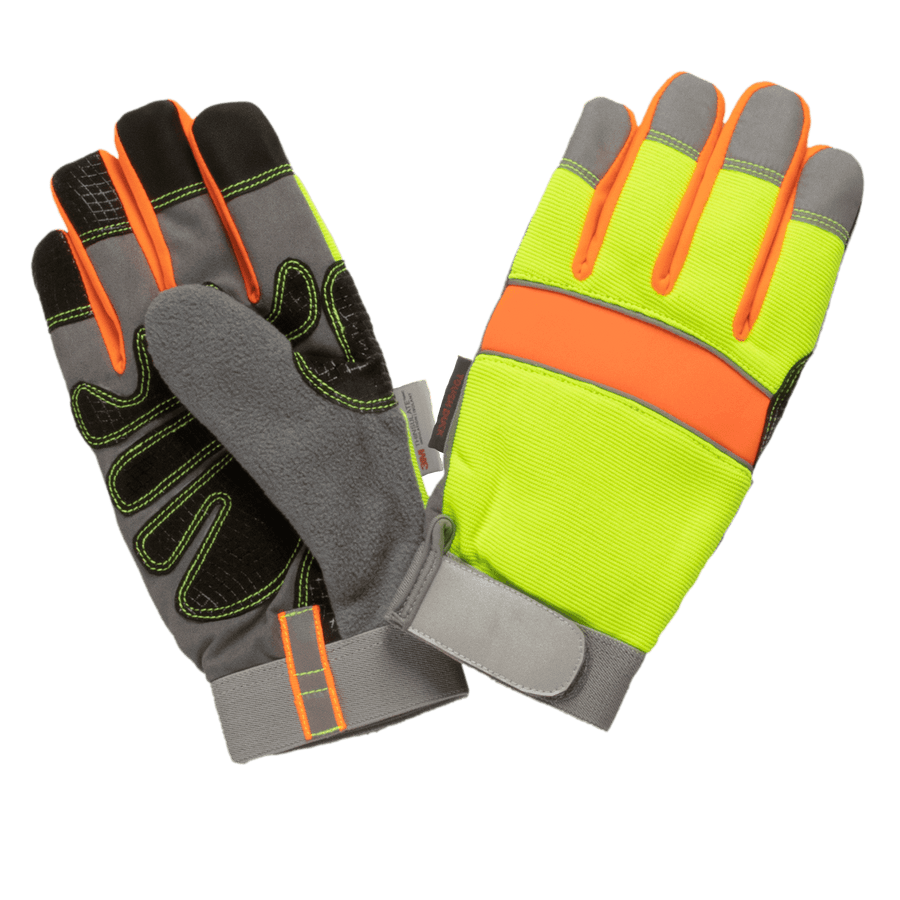 Tough Duck WA33 Hi-Vis Precision Glove - Yellow Work Gloves and Hats - Cleanflow