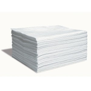 SpillTech Oil Only Contractor Grade Sorbent Pads, Pack of 100 Facility Safety - Cleanflow