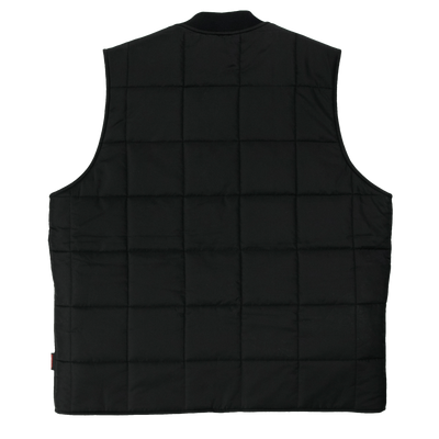 Tough Duck WV01 Sherpa Lined Box Quilt Vest | Black | Limited Size Selection Work Wear - Cleanflow