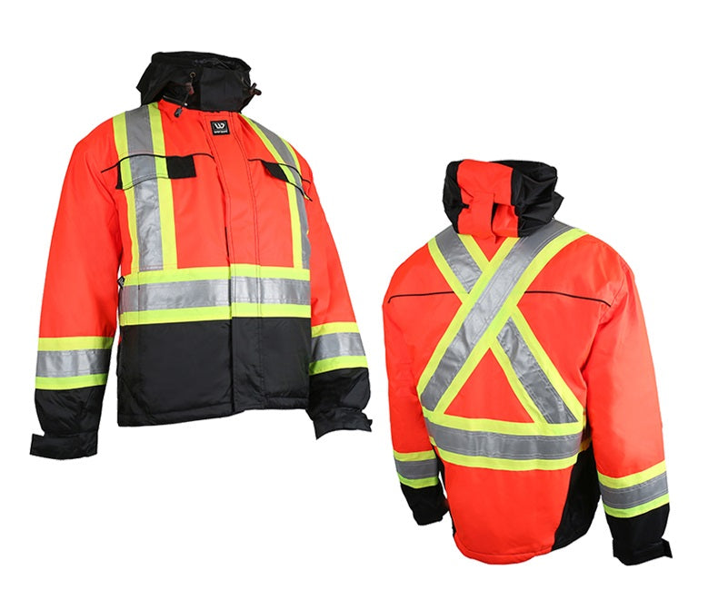 Wenaas 533TCSAR Hi-Vis Quilted Jacket | Red/Black | S-4XL Hi Vis Work Wear - Cleanflow