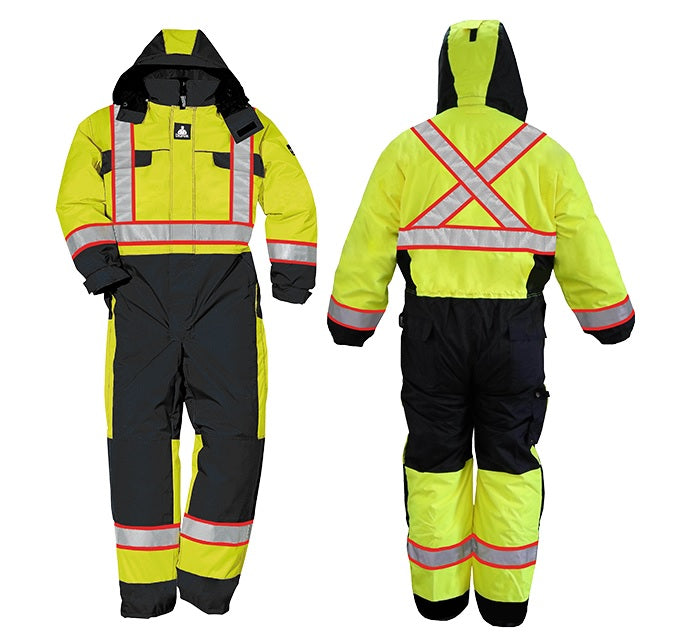 Wenaas 633TCSAY Hi-Vis Quilted Coverall | Yellow/Black | S-4XL Hi Vis Work Wear - Cleanflow