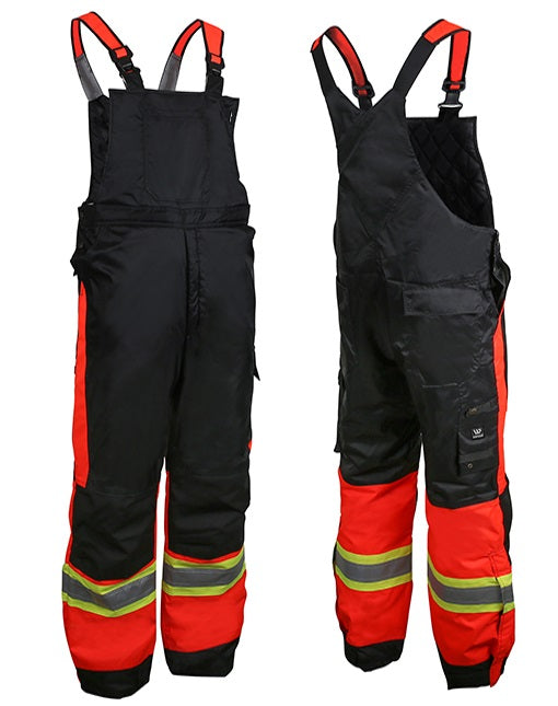 Wenaas 833TCSAR Hi-Vis Quilted Bib Overall | Red/Black | Limited Size Selection Hi Vis Work Wear - Cleanflow