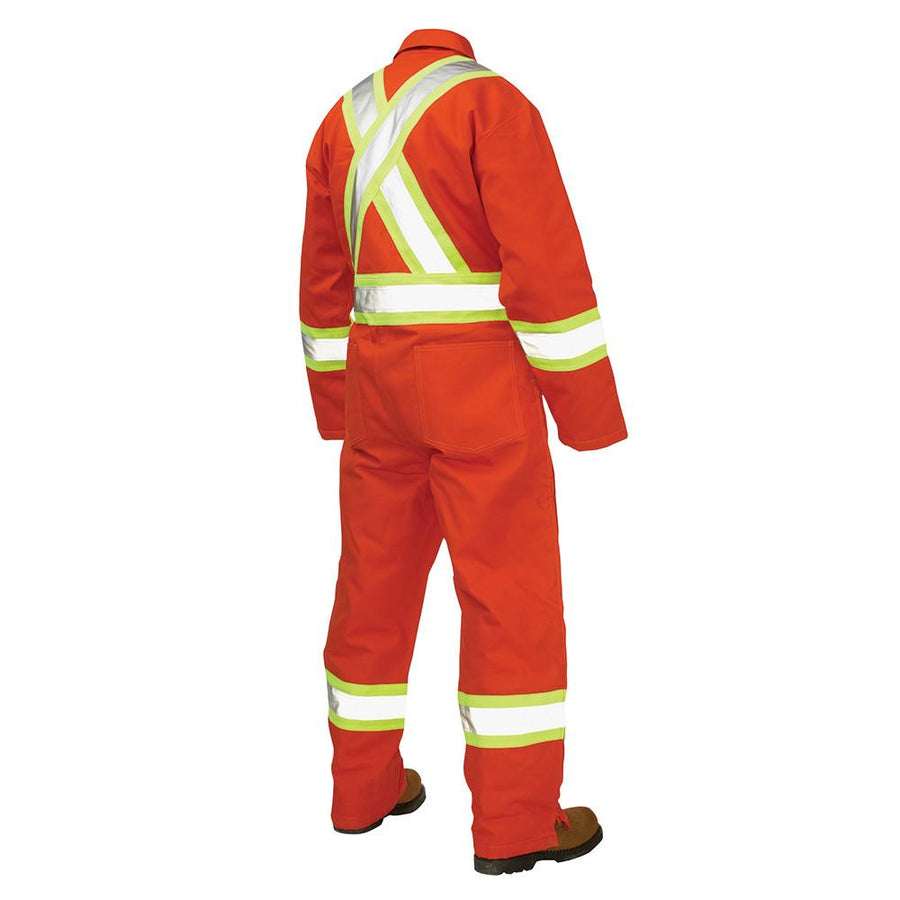 Tough Duck S787 Insulated Hi Vis Cotton Duck Coveralls | Orange | Limited Size Selection Hi Vis Work Wear - Cleanflow