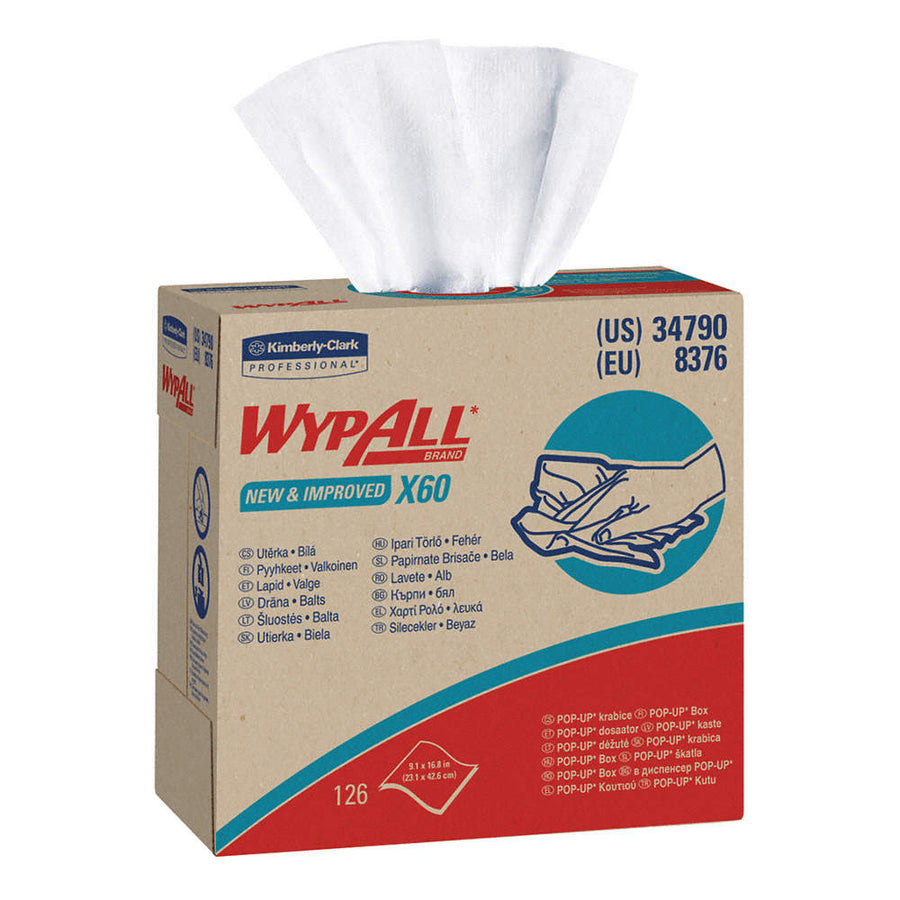 Wypall X60 Industrial Wipers | 126 per Box | Case of 10 Janitorial Supplies - Cleanflow
