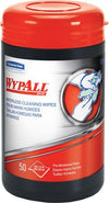 Wypall Waterless Hand Cleaning Wipes | Tub of 50 - Case of 8 Soaps and Detergents - Cleanflow