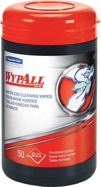 Wypall Waterless Hand Cleaning Wipes | Tub of 50 - Case of 8 Janitorial Supplies - Cleanflow