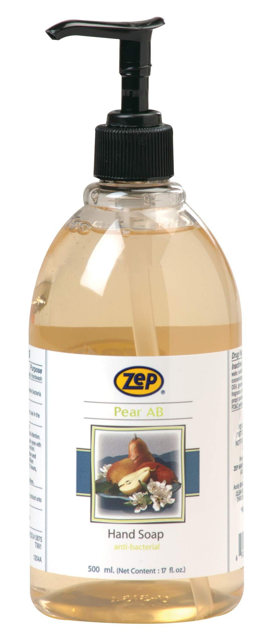 Zep Pear Antibacterial Hand Soap - 500 ml - Case of 12 Janitorial Supplies - Cleanflow