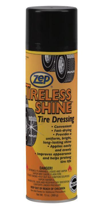 Zep Tireless Shine High-Gloss Tire Dressing | 369G Can - Case of 12