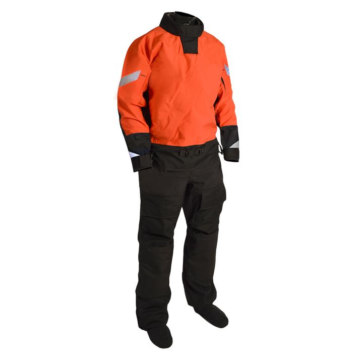 Mustang Survival Sentinel Series Lightweight Boat Crew Dry Suit | Orange/Black | XS-3XL Long Personal Flotation Devices - Cleanflow