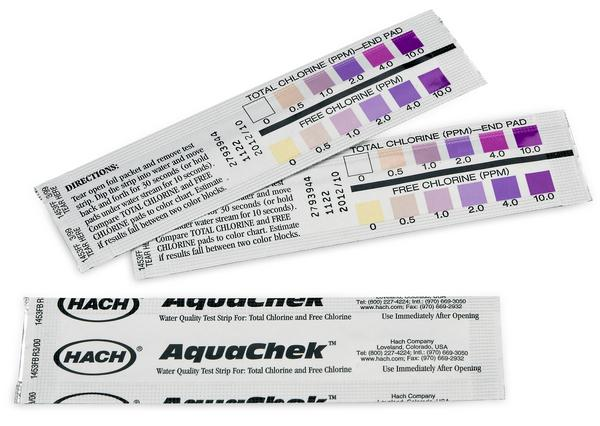 Hach Individually Wrapped Free & Total Chlorine Test Strips, 0-10mg/L - Pack of 250 Water Testing Equipment - Cleanflow
