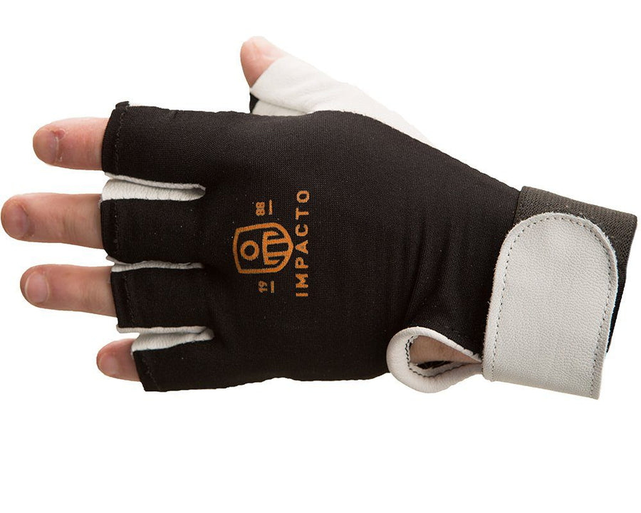 Impacto Anti-Vibration Pearl Leather Series Half Finger Glove with Air Glove® Technology Work Gloves and Hats - Cleanflow