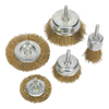 "Brass Wire Wheel Brush Set | 1/4"" Arbor 