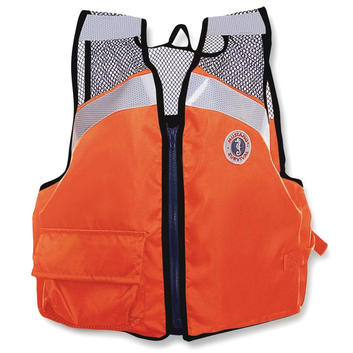 Mustang Survival Industrial Mesh Vest | S-3XL Personal Flotation Devices - Cleanflow
