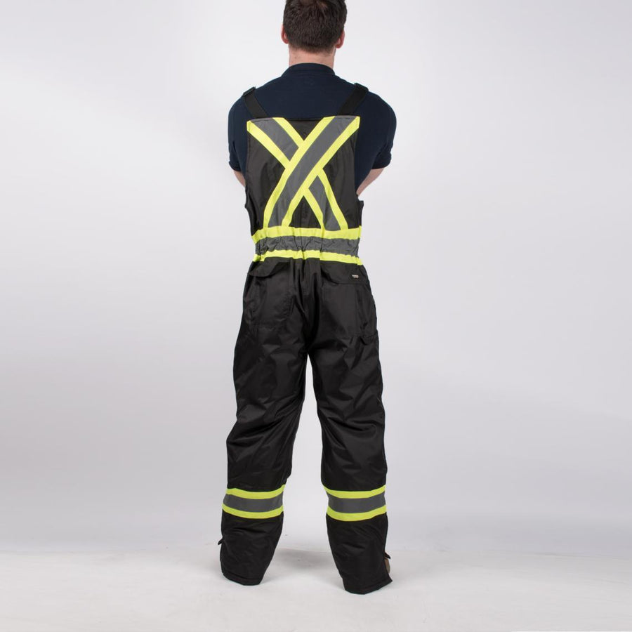 Terra Insulated 300D Poly Oxford Safety Overalls | Black | S-5XL Hi Vis Work Wear - Cleanflow