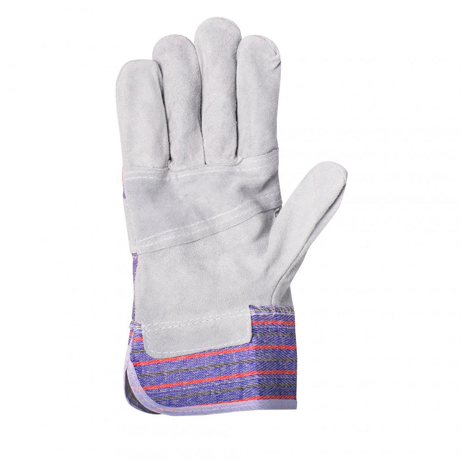 Horizon Cotton Back Cowsplit Palm Leather Work Gloves | Pack of 12 Pairs Work Gloves and Hats - Cleanflow