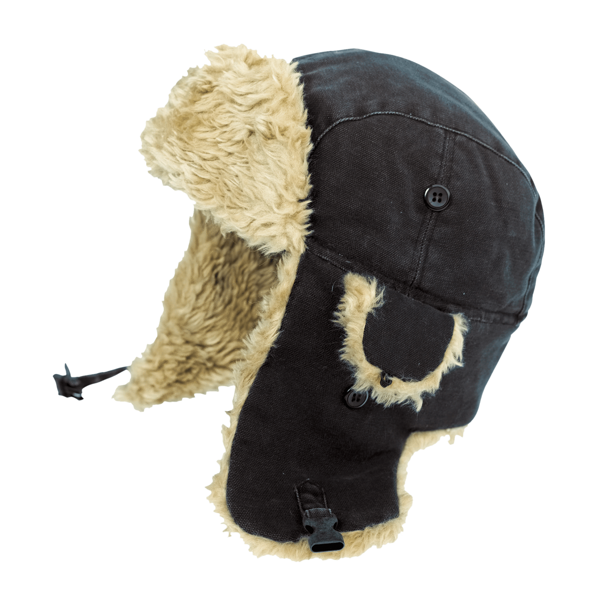 Tough Duck Aviator Hat | Black Work Gloves and Hats - Cleanflow