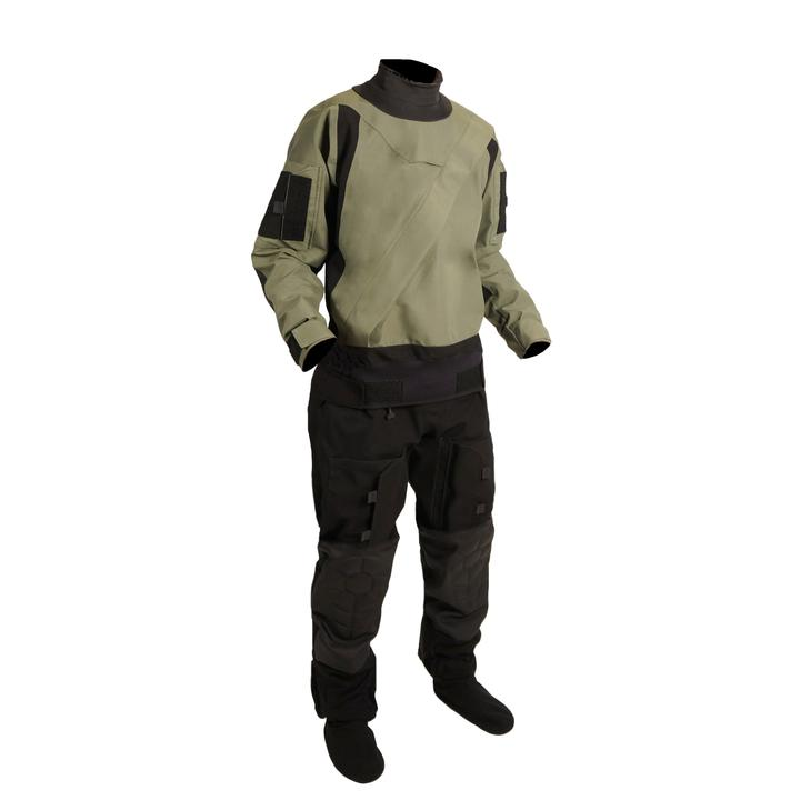 Mustang Survival Sentinel Series Aviation Dry Suit | Green/Black | XS-3XL Long Personal Flotation Devices - Cleanflow