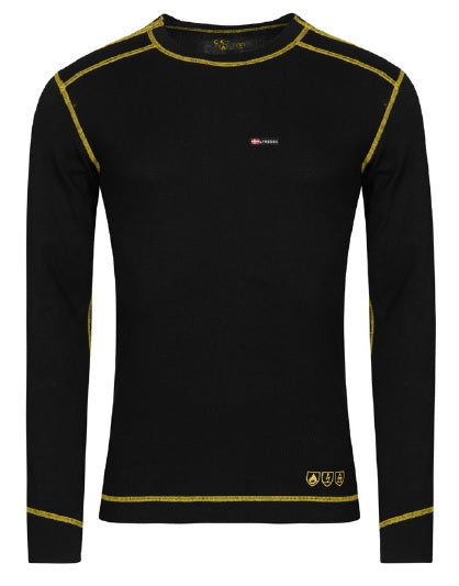 Lyngsoe FR ARC Long Sleeve T-Shirt | Black | Sizes XS - 4XL Flame Resistant Work Wear - Cleanflow