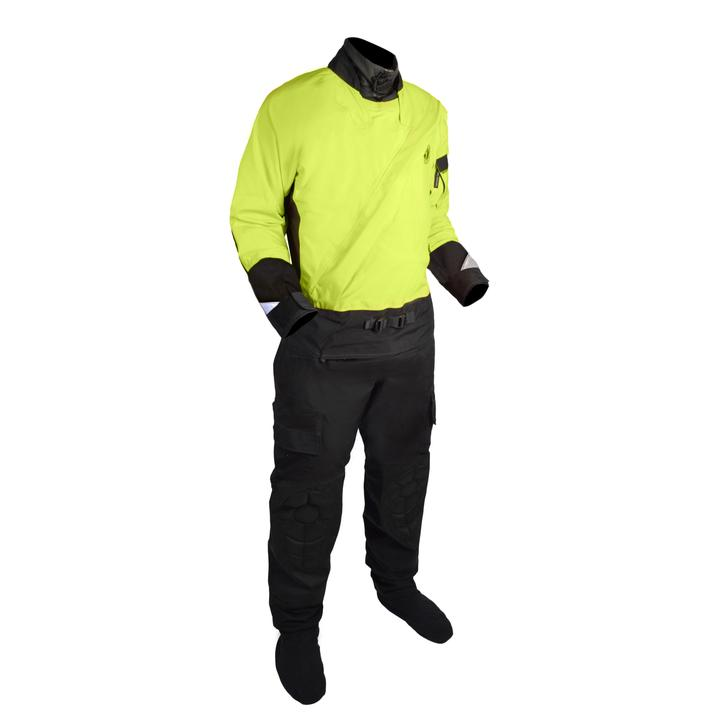 Mustang Survival Sentinel Series Water Rescue Dry Suit | Yellow/Black | S-3XL Short Personal Flotation Devices - Cleanflow