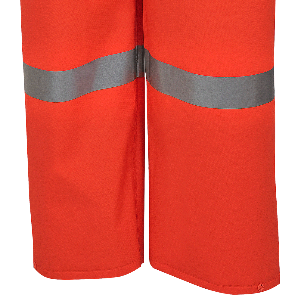 Pioneer 576P FR Poly/PVC Hi Vis Bib Pant | Orange | S-4XL Hi Vis Work Wear - Cleanflow