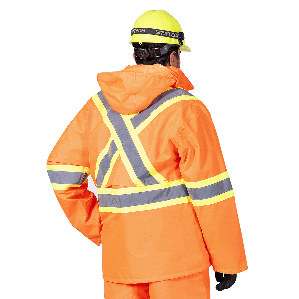 Pioneer 5632 300D Oxford Poly 3-in-1 Parka | Orange | XS-5XL Hi Vis Work Wear - Cleanflow