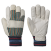 Pioneer 536KN Fleece Lined Knit Wrist Cowgrain Work Gloves | Pack of 12 Pairs Work Gloves and Hats - Cleanflow
